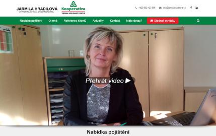 Web Jarmila Hradilová